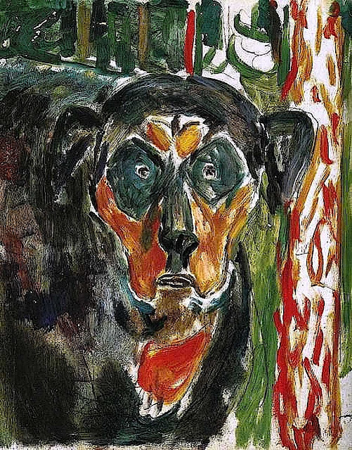 Edvard Munch Head of a dog, 1930