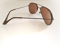 brown foster aviator sunglasses from perfect glasses