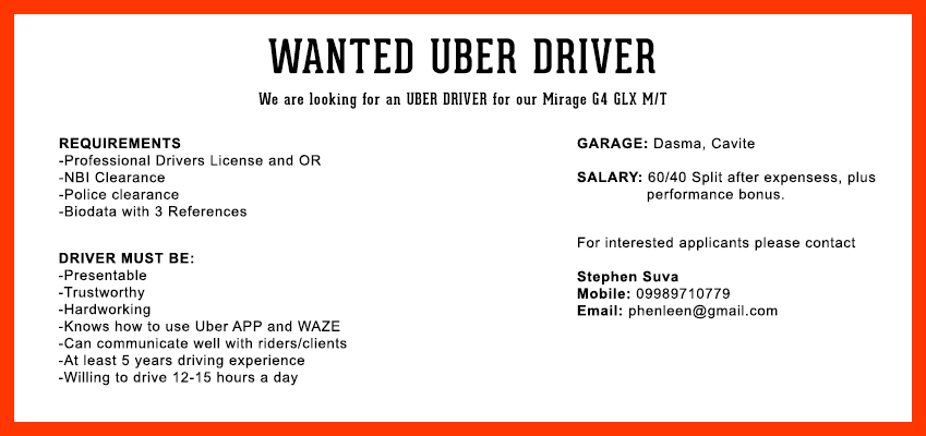 we are hiring drivers philippines