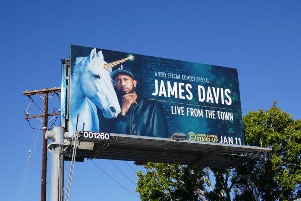 James Davis Live from town unicorn billboard