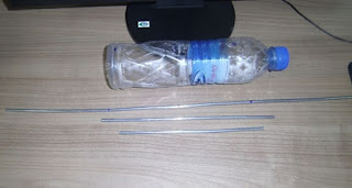 Antena Tv  Digital botol plastik bekas