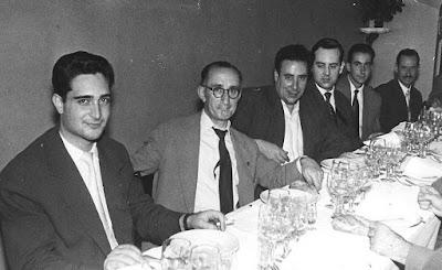 Celebración del Club Ajedrez Barcelona en los años 60