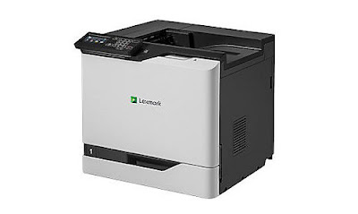 de printer is using PCL together with PostScript printing linguistic communication are supported Lexmark CS820de Driver Download