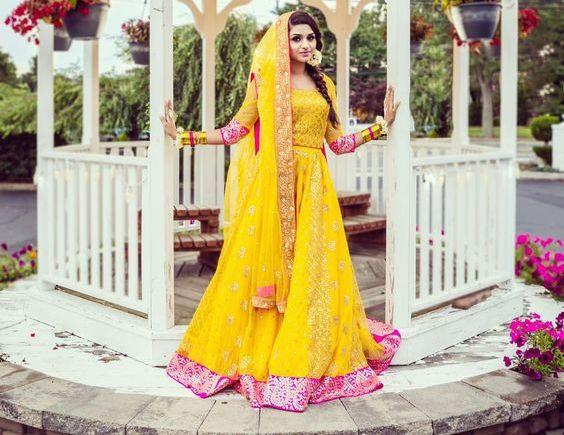 Mehndi Dresses : Mehndi dresses for bride by pakistani designers sari info