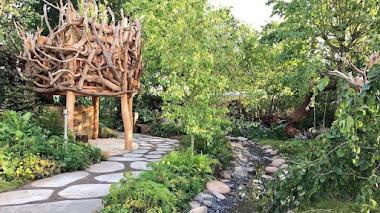 Un jardín terapéutico y ganador en Hampton Court 2017. Caudwell Children's Wild Garden