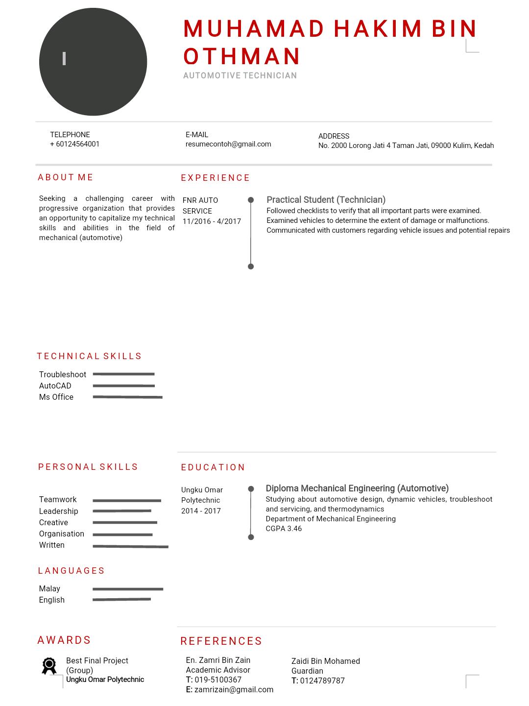 Contoh Resume Yang Mudah dan Terbaik - MY PANDUAN