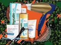 """Logo Vinci gratis """"Box Cura dei Capelli"""" con Phon e prodotti Bioscalin e Ducray"""
