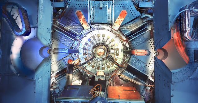 The BaBar detector at SLAC National Accelerator Laboratory. (Credit: SLAC)