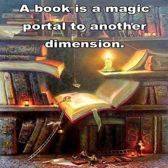A book is a magic portal to another dimension - Portal bookend ...