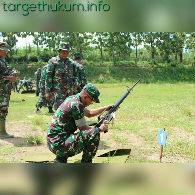 Wajib Bagi Prajurit TNI AD Kodim Pati Harus Bisa Menembak Pistol Dan Senapan Serbu