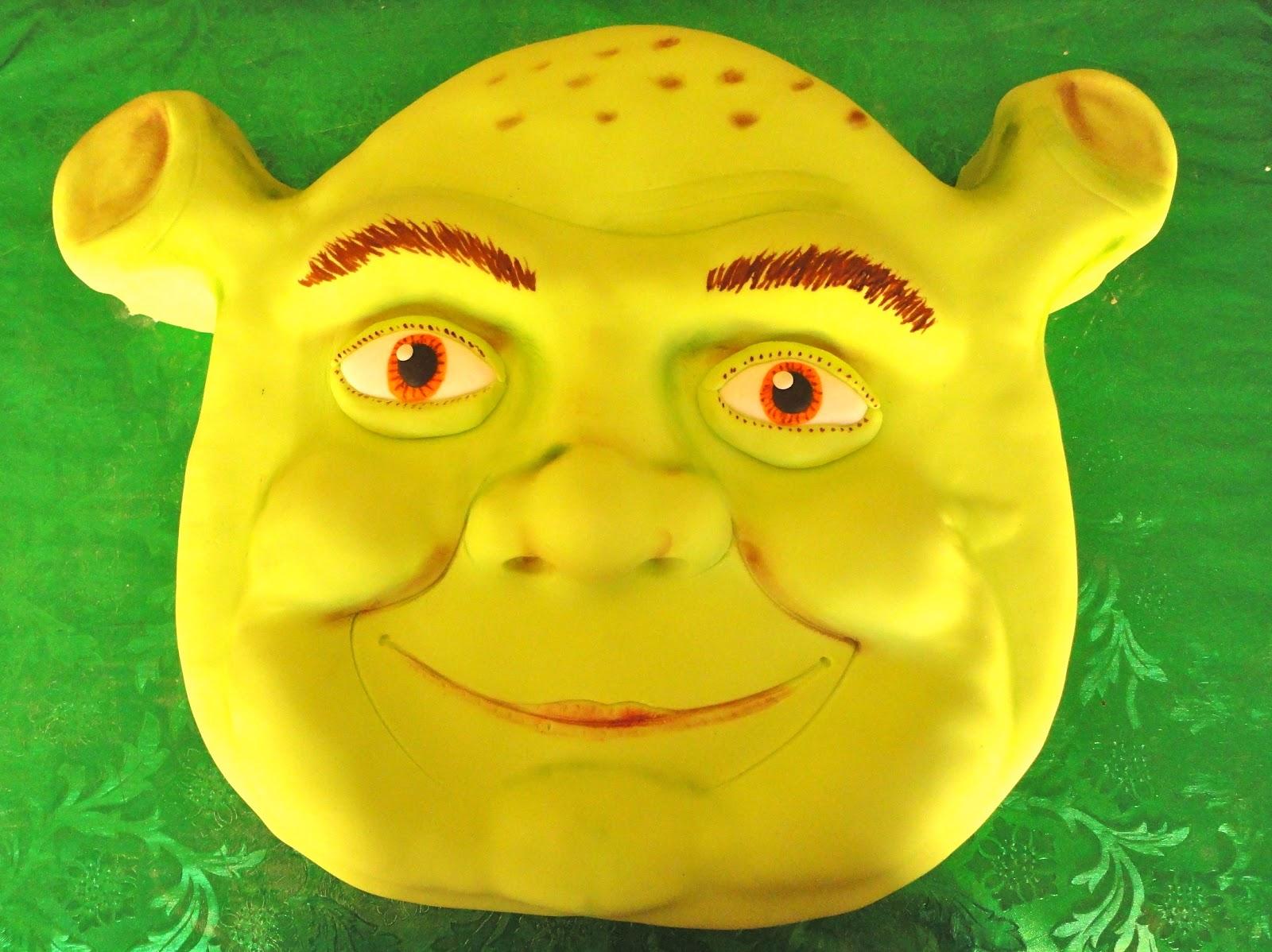 Pink Sugar Cupcakes Shrek Cake