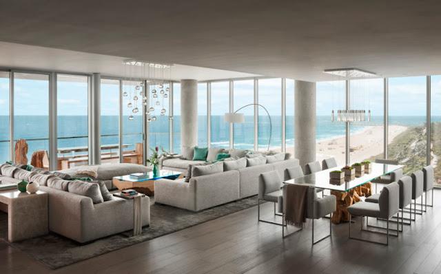 Smiros Miami Beach Penthouse 2 living