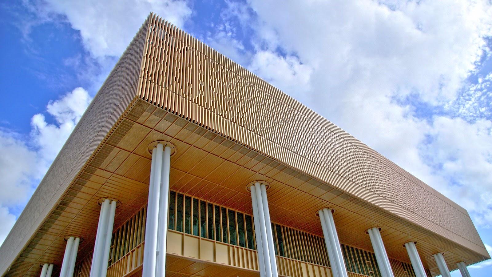 台南市立圖書館—新總館|閃耀淡金色格柵吸引目光|2020年底開幕