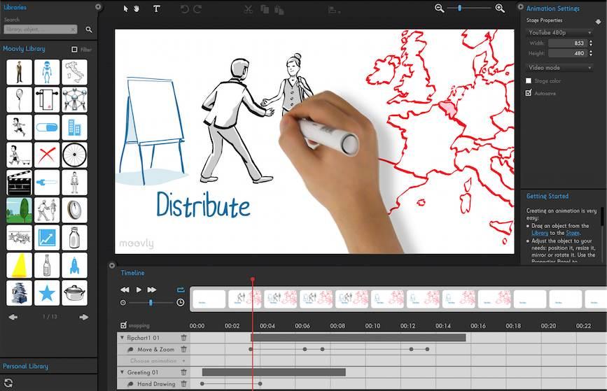 تعرف علي موقع Moovly الرائع وقم بتصميم فيديوهات إحترافية بتأثيرات Hand Writing