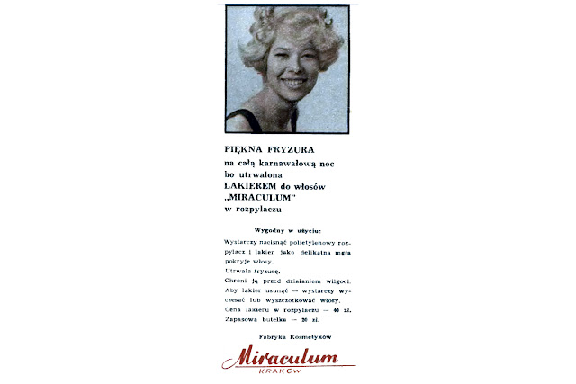 Lakier Miraculum, reklama prasowa, 1970.