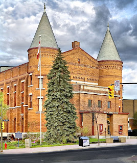 Orillia's icon Opera House with it's twin towers.
