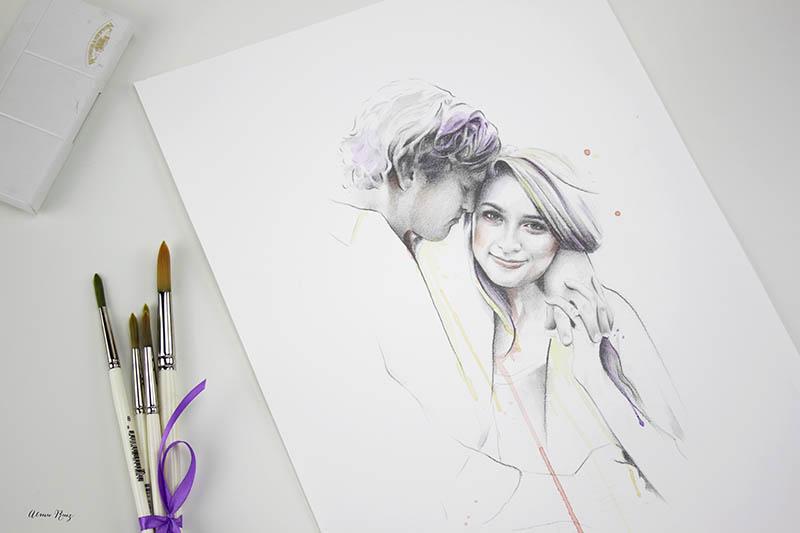 Retrato especial de pareja para regalar