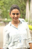 Rakul Preet Singh in Jeans and White Shirt At Jaya Janaki Nayaka le Logo Launch ~  Exclusive 011.JPG