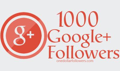 1000 Google Followers