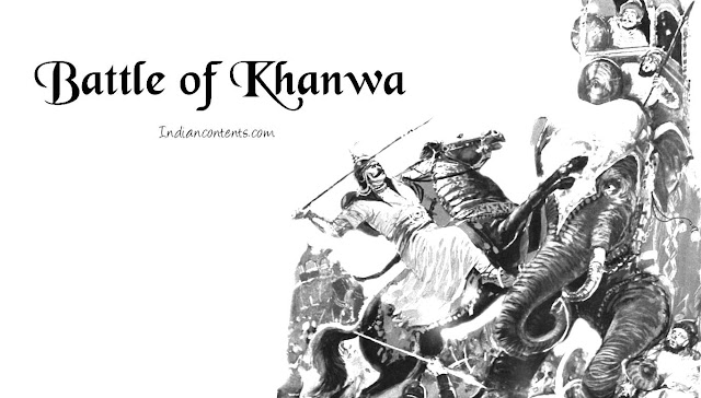The Battle of Khanwa was fought between invading forces led by the first Mughal Emperor Babur and the Rajput forces led by Rana Sanga of Mewar. The battle was fought near the village of Khanwa, in Bharatpur District of Rajasthan, on March 17, 1527.