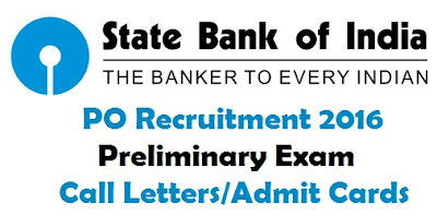 download SBI PO CallLetters