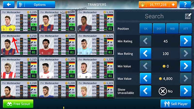 cheat dream league soccer buat unlimited pemain sendiri
