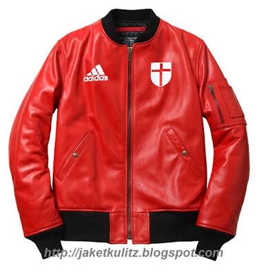 Jaket Kulit Ac Milan Murah Merah