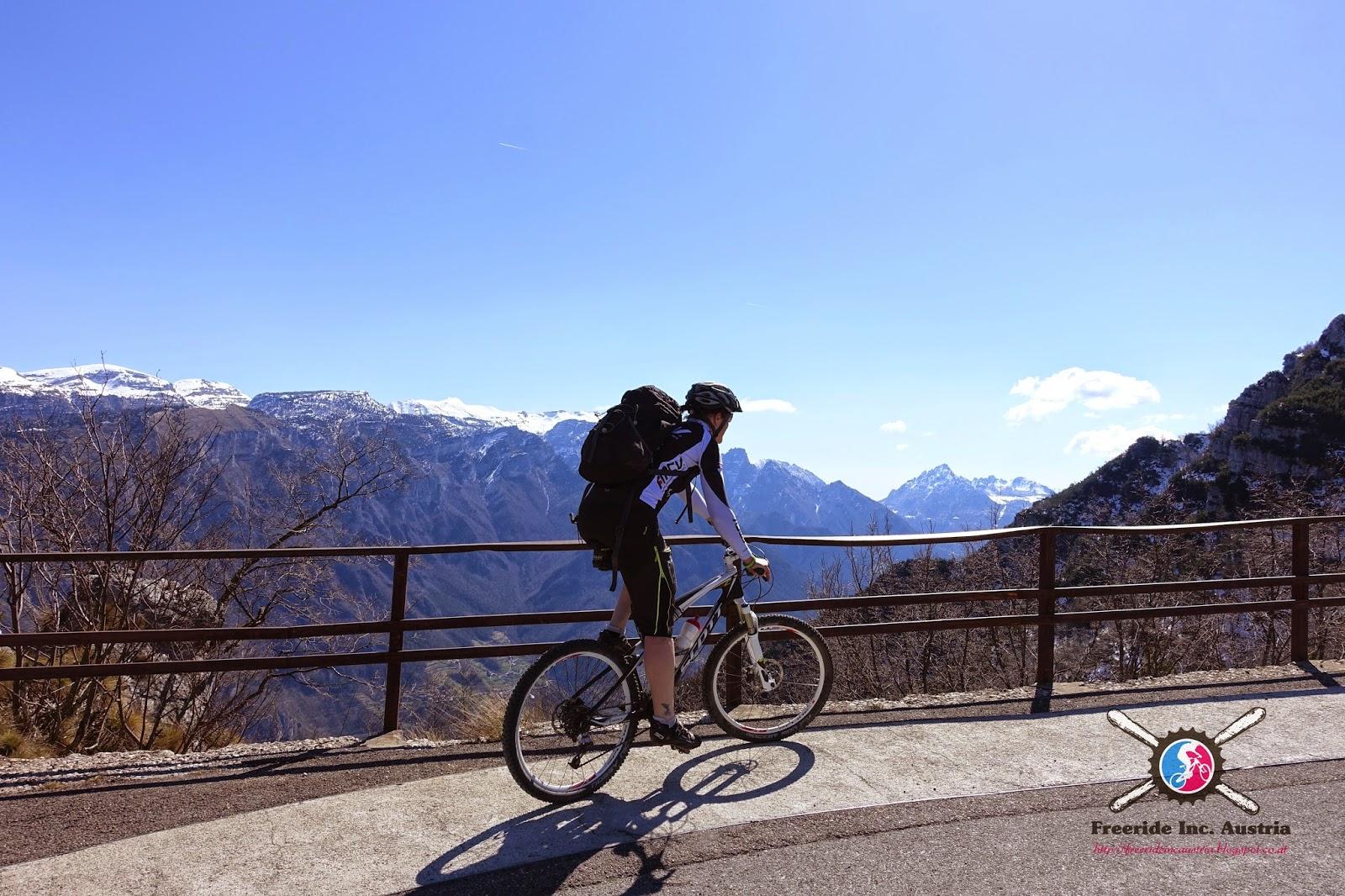 Monte Zugna Auffahrt Bike