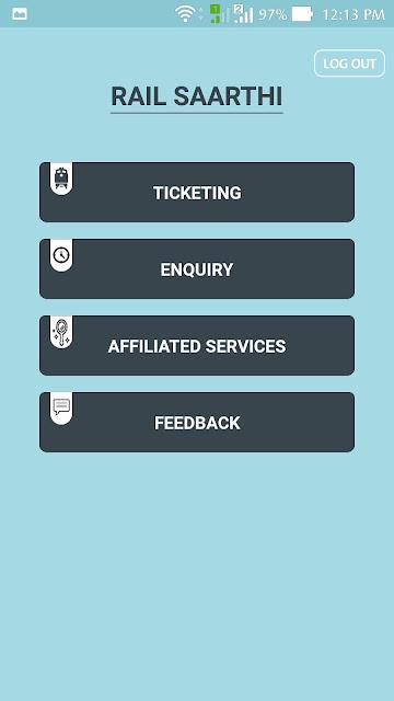 Rail Saarthi Ticketing Options