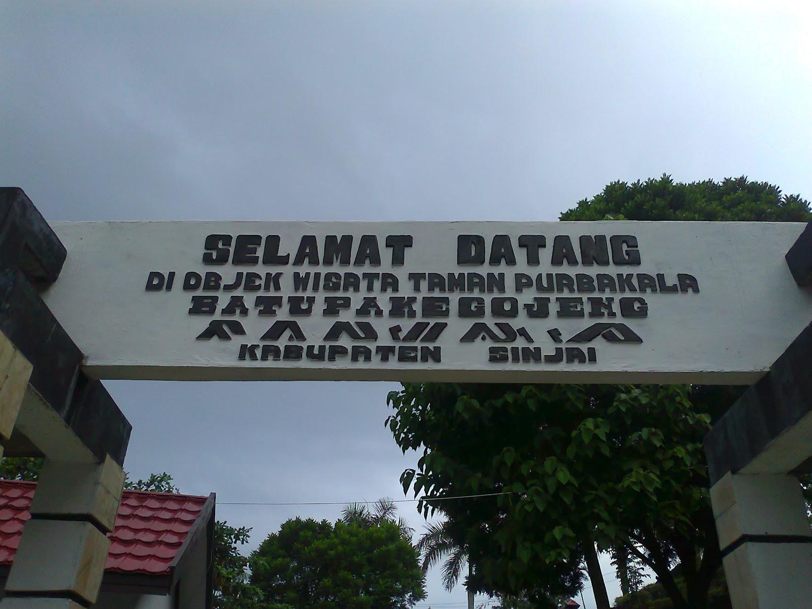 Wisata Alam Taman Purbakala Batu Pake Gojeng