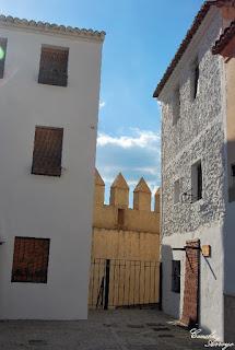 Viviendas construidas en el castillo