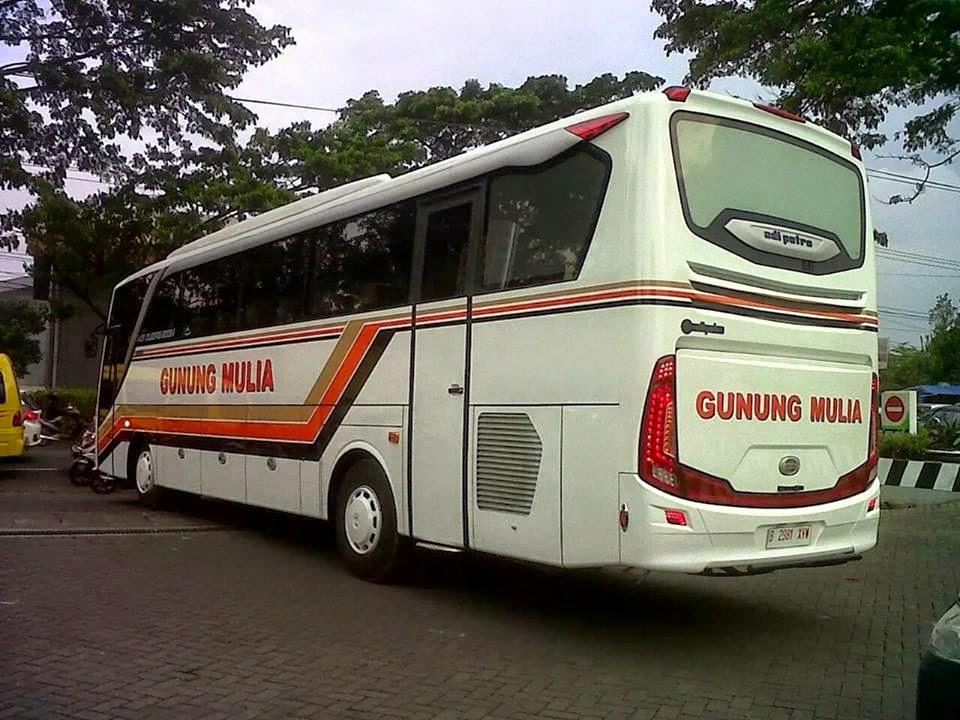 Penampakan bis Gunung Mulya di Instagram Armada tebaru Gunung Mulya