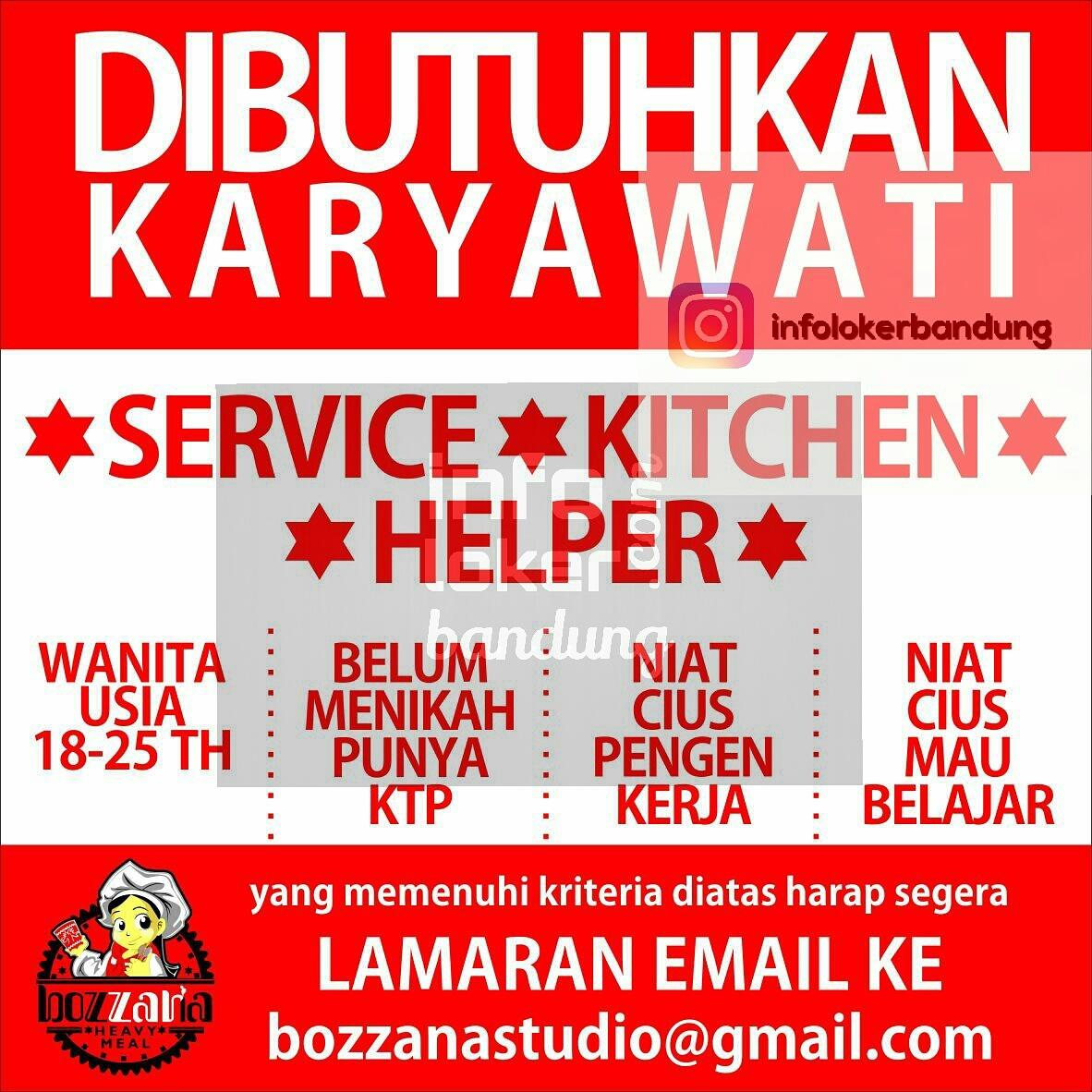 Lowongan Kerja Bozzana Heavy Meal Bandung Januari 2017