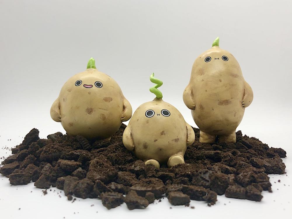 1//35 scale resin model Potato Harvest
