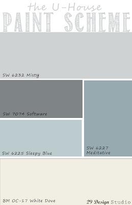 Light Blues Grays Neutrals Whole House Paint Scheme