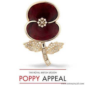 Kate Middleton wore Poppy Collection The First World War Brooch