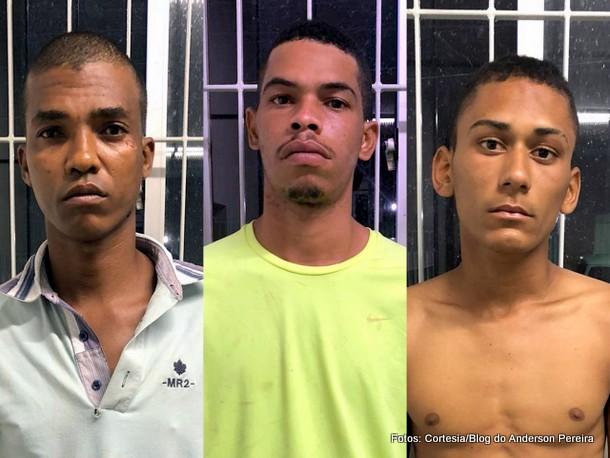 Polícia: Trio é preso acusado de tráfico de drogas na praia de Ponta de Pedras
