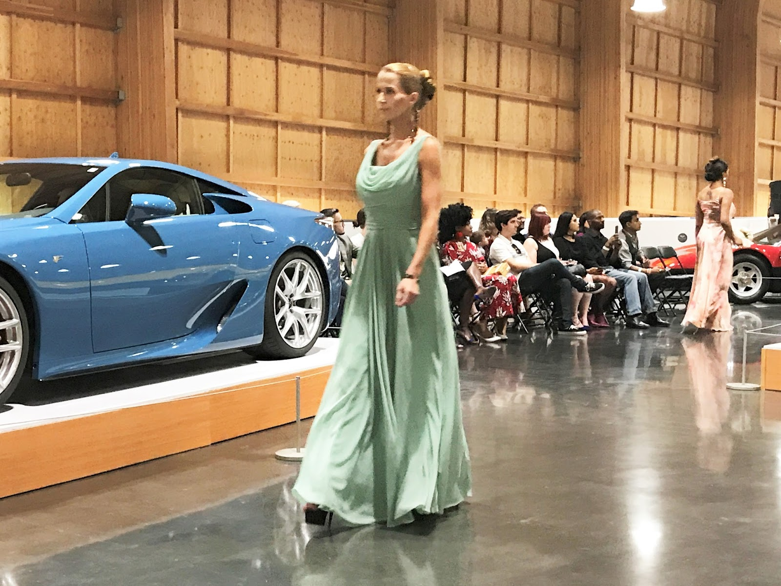 LeMay Car Museum High Couture Fashion Meets Exotic Car Runway - Lemay car show