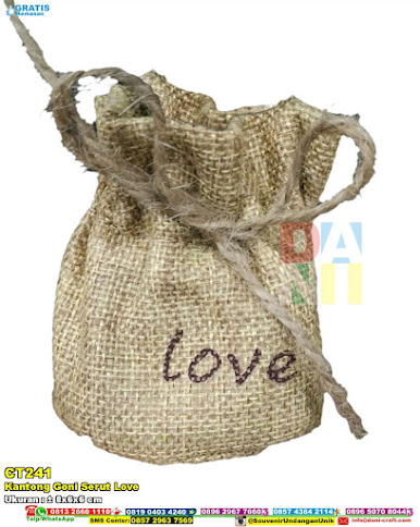 Kantong Goni Serut Love