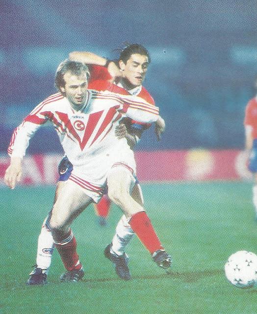 Chile y Turquía en Copa Centenario del Fútbol Chileno, 22 de junio de 1995