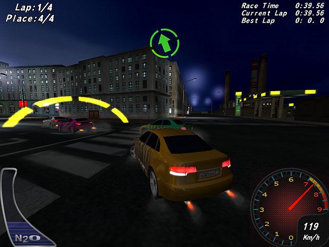 لعبة سباق سيارات الشوارع Night Street Racing