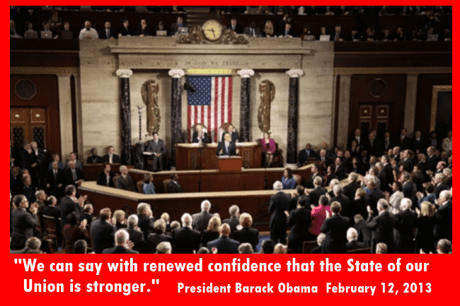 President Obama delivers his State of the Union address to a joint session of Congress 2/13/2013
