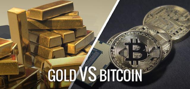 Los inversores salen del oro para comprar Bitcoin