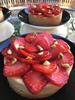 Recette des tartelettes fraise pistache