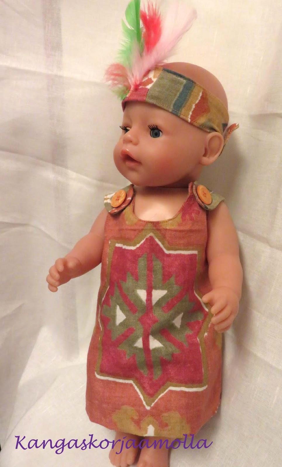 0e7874a727e9 Kangaskorjaamolla  Baby Born nukelle vaatteita   kaavat