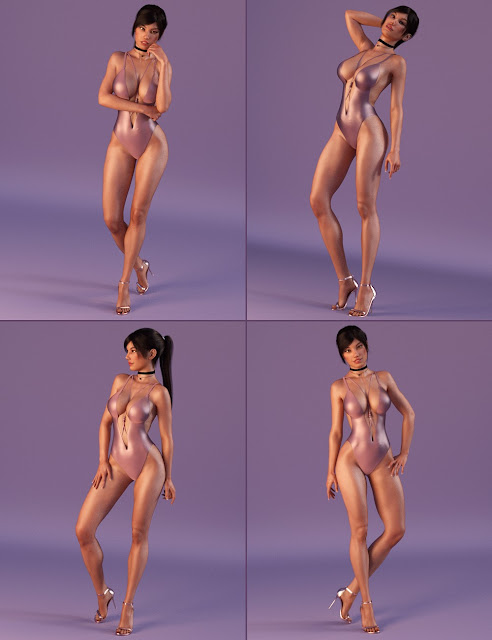 Trendy Girl Poses for Genesis 3 Female