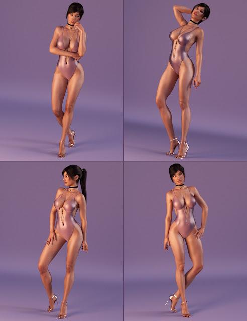 Trendy Girl Poses for Genesis 3 Female