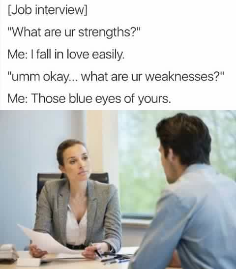 Funny Strength and Weaknesses Job Interview