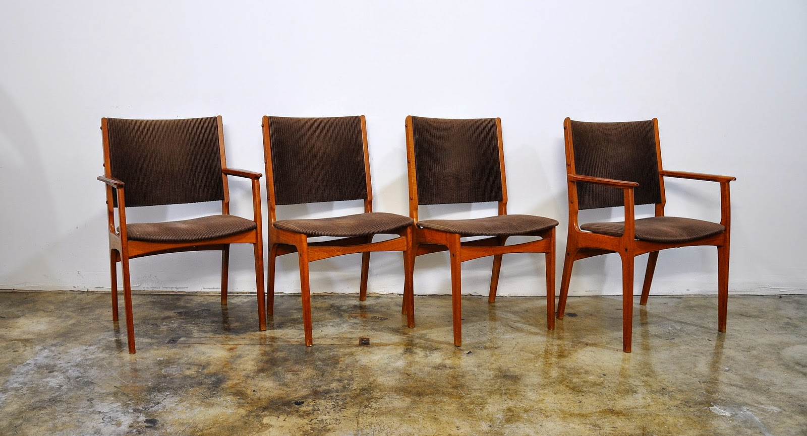 danish modern dining chairs how to repair patio chair straps select modern: set of 4 teak