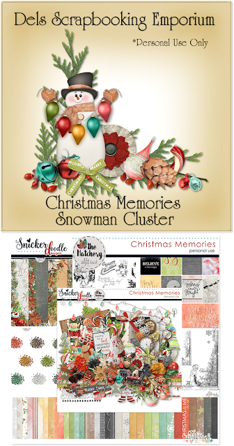 Christmas Memories Snowman Cluster